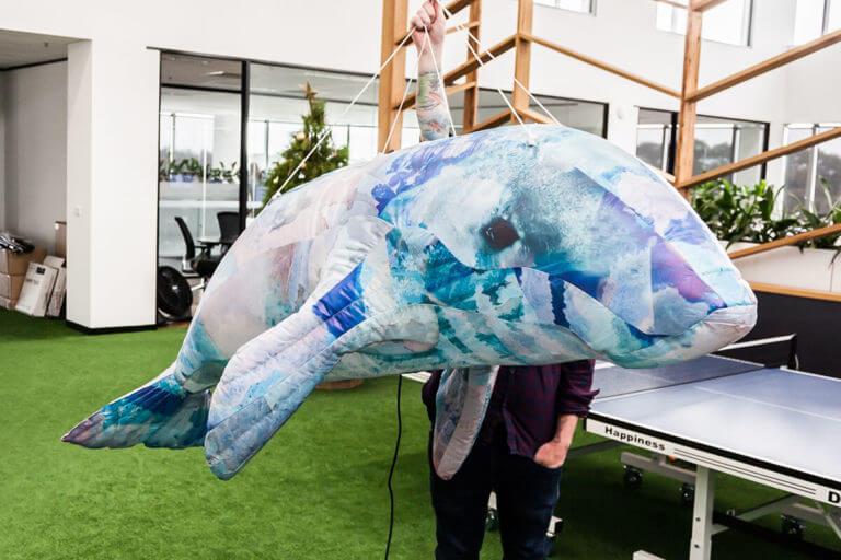Inflatable Dugong Animal For A Display