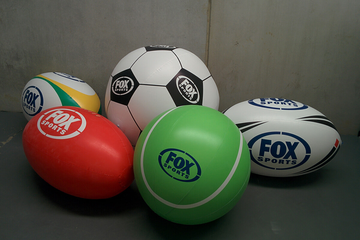 Various Inflatable Balls For A Promotion