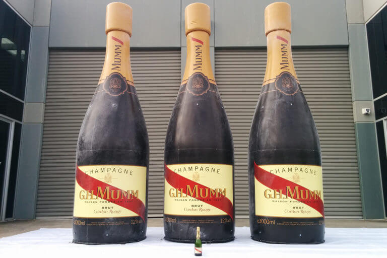 5m Tall GH Mumm Bottle Replicas