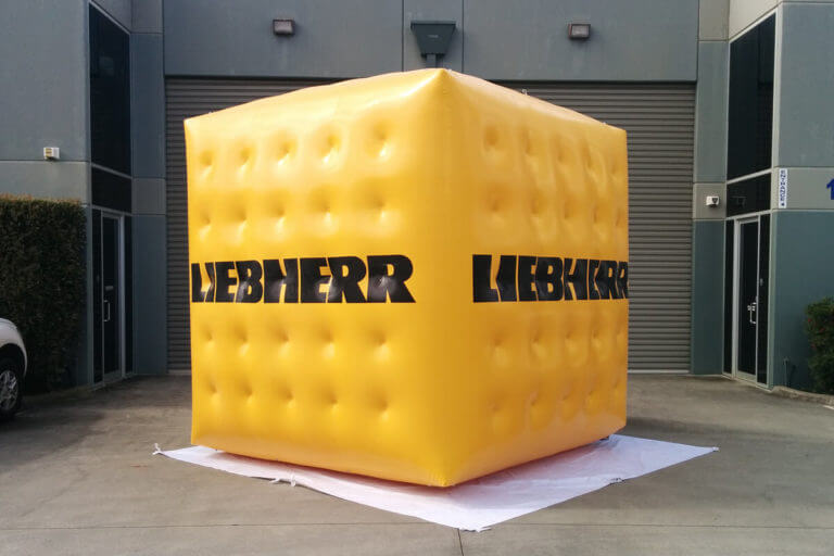 Giant Promotional Cube For Liebherr