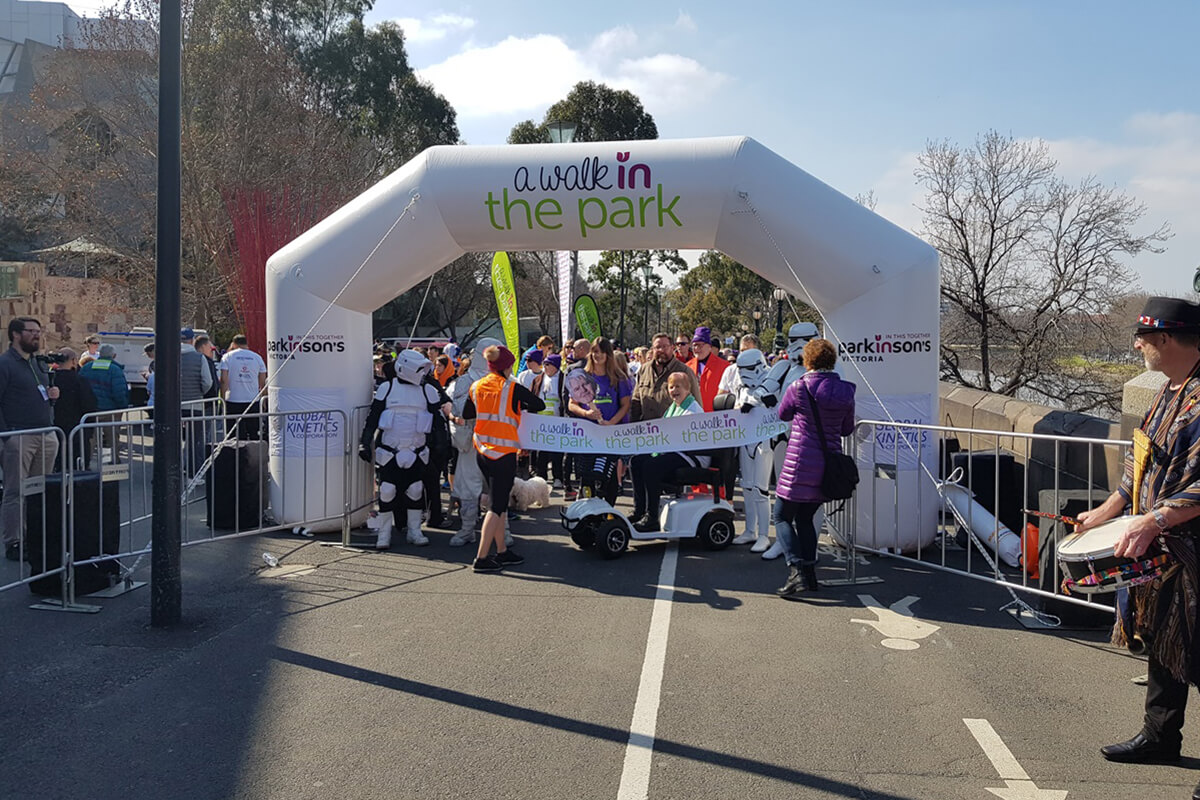 Small Inflatable Arch Start Line