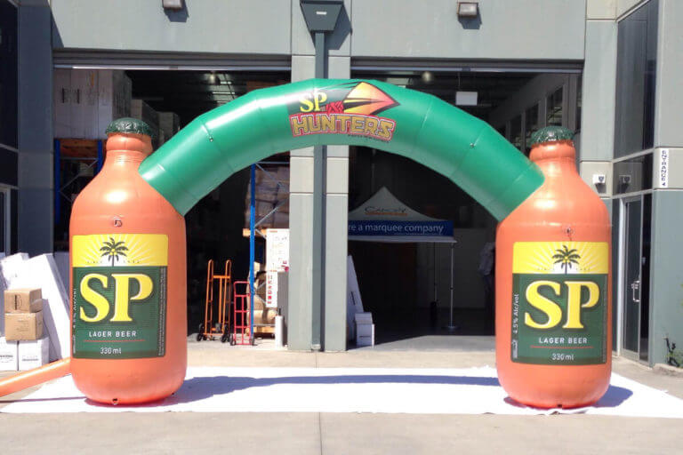 Inflatable Arch With Beer Bottles