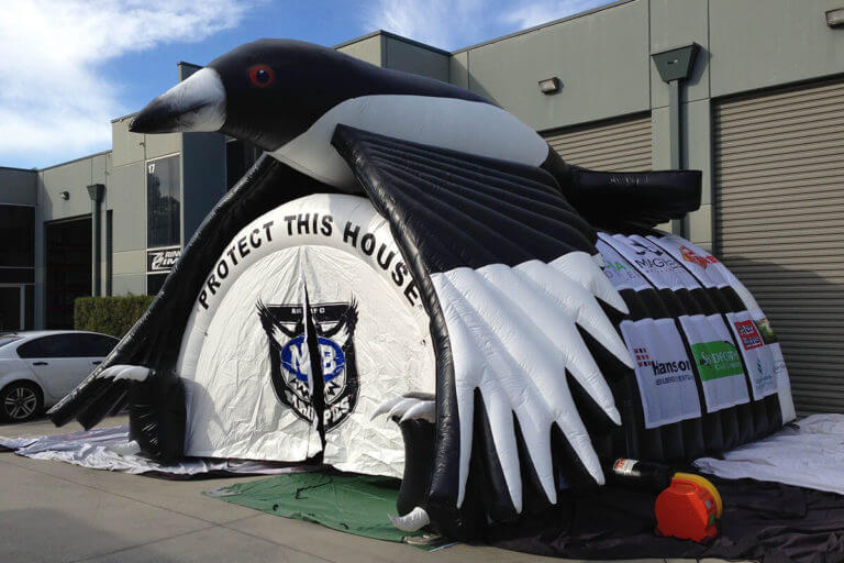 Sports Tunnel Inflatable With Magpie