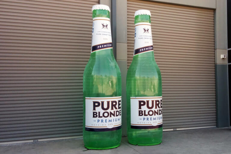 Inflatable Pure Blonde Bottles