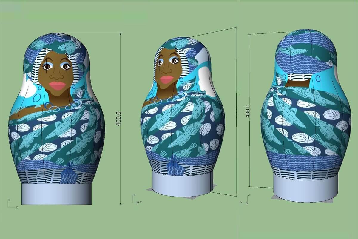 Babushka 3D Mock Up