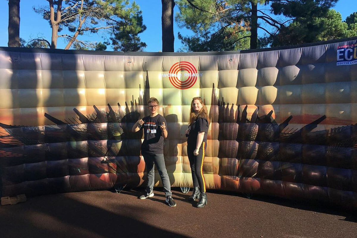 Custom Inflatable Photo Wall In Action