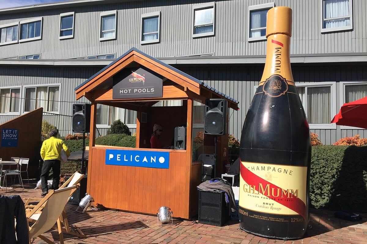 Giant Inflatable Champagne Bottle - GH Mumm