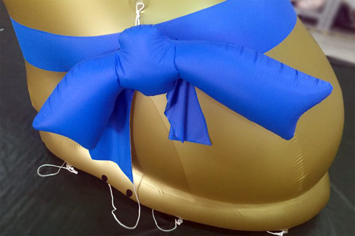 Inflatable Bunny Bow