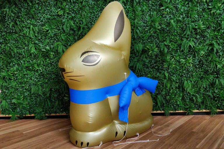Testing the Inflatable Product Replica Bunny