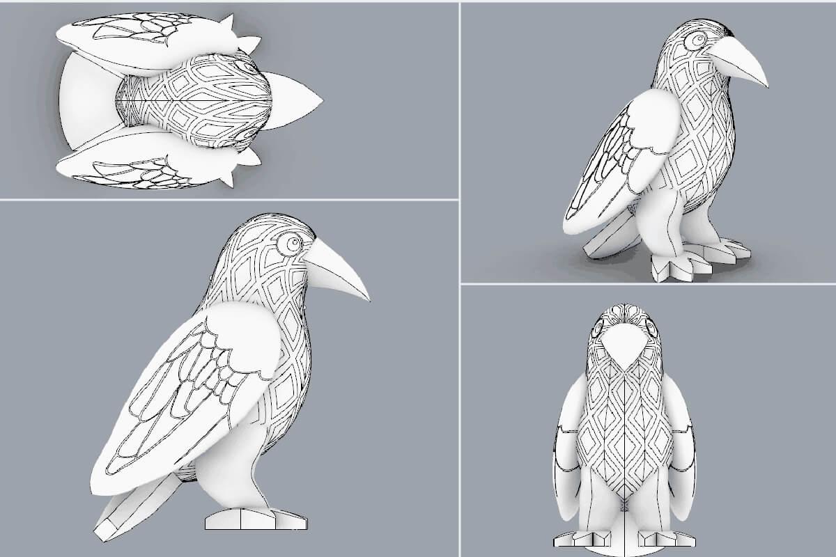 Inflatable Bird 3D CAD