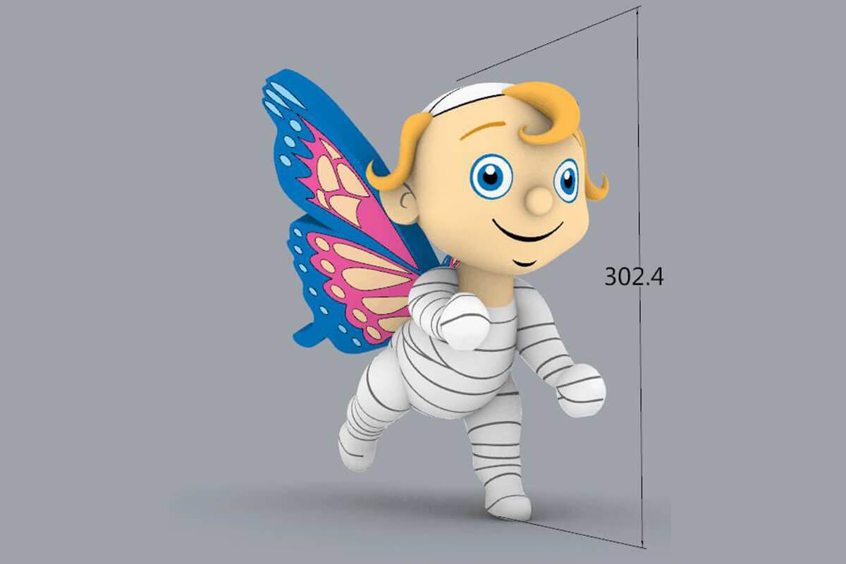 Inflatable Mascot Replica 3D