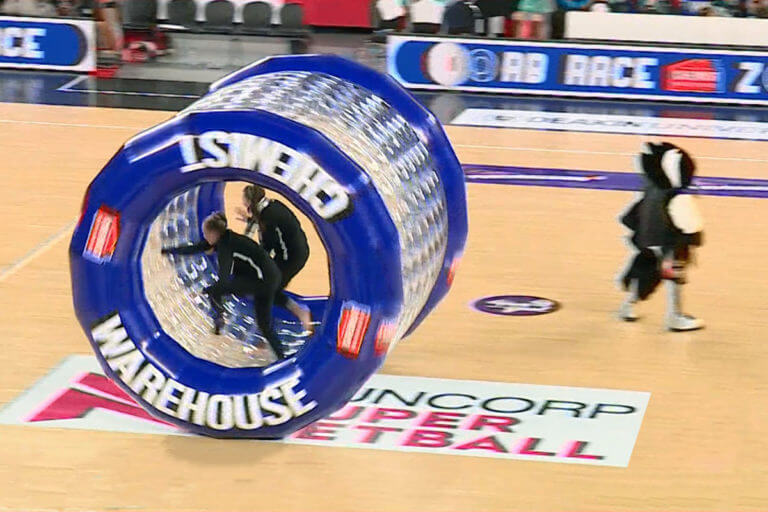 Inflatable Zorb Tunnel Race