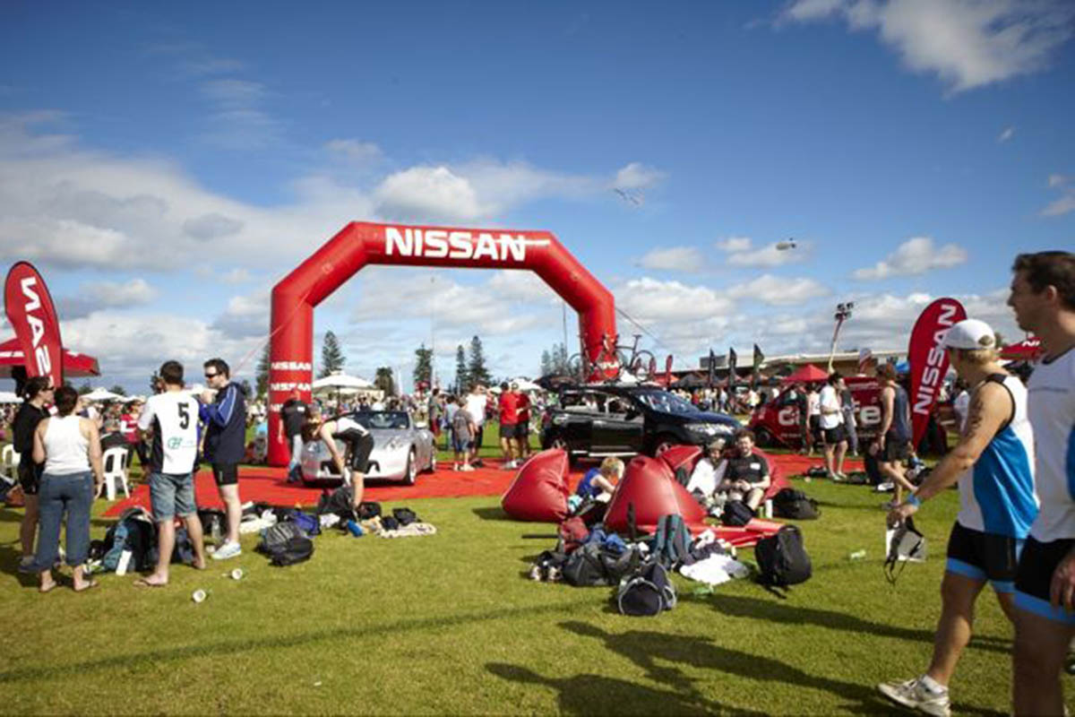 Nissan Inflatable Arch