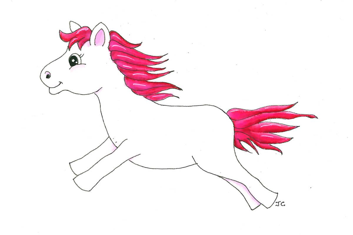 Inflatable Mascot Pony 2D