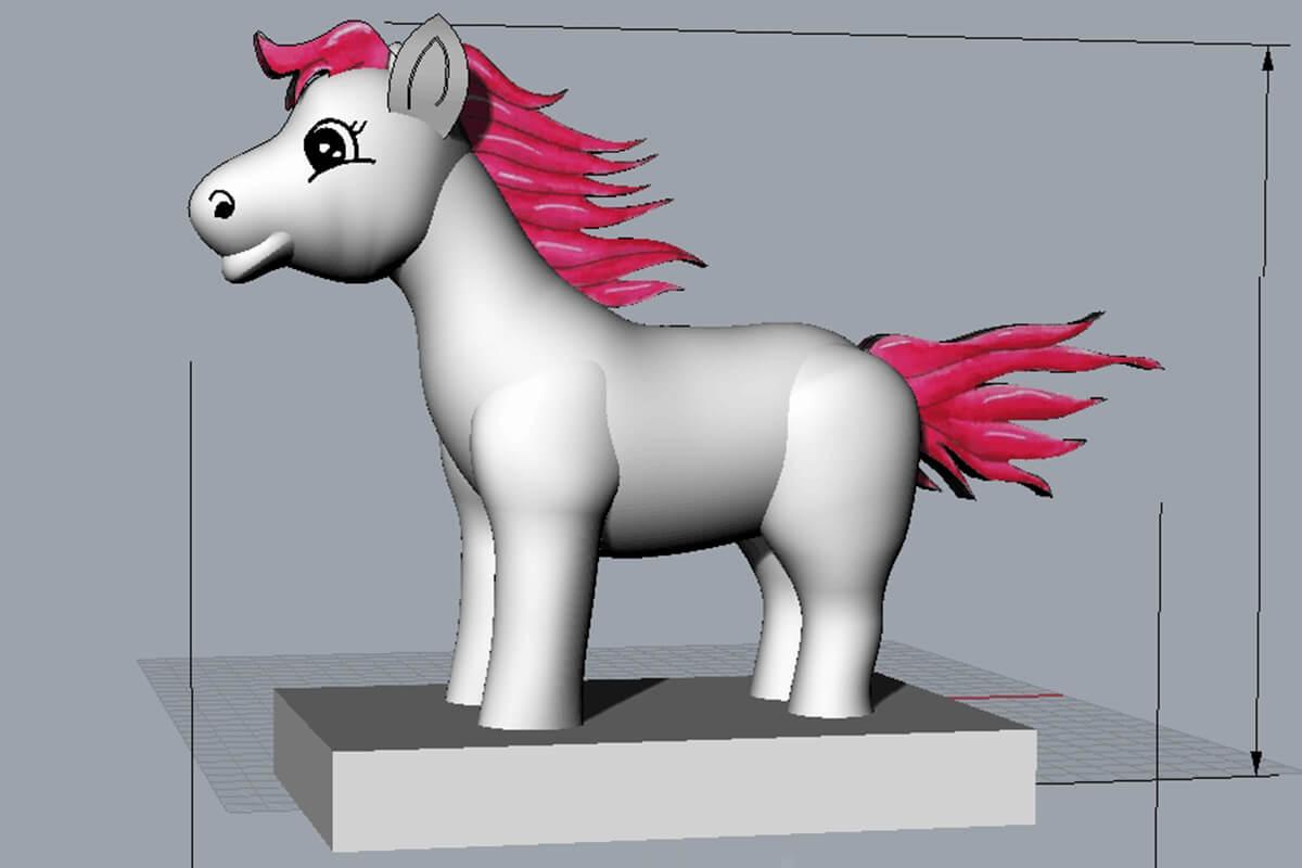 Inflatable Mascot Pony 3D