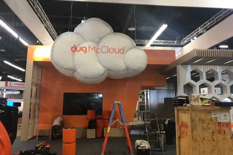 DUGCloud Expo Inflatable Set Up