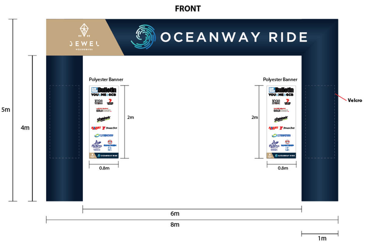 2D Concept For Ocreanway Custom Start Finish Arch