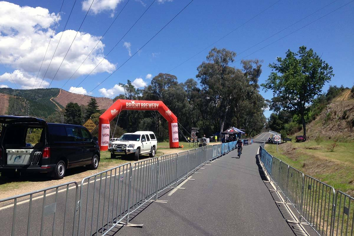 Giant Inflatable Arch Cycling Event