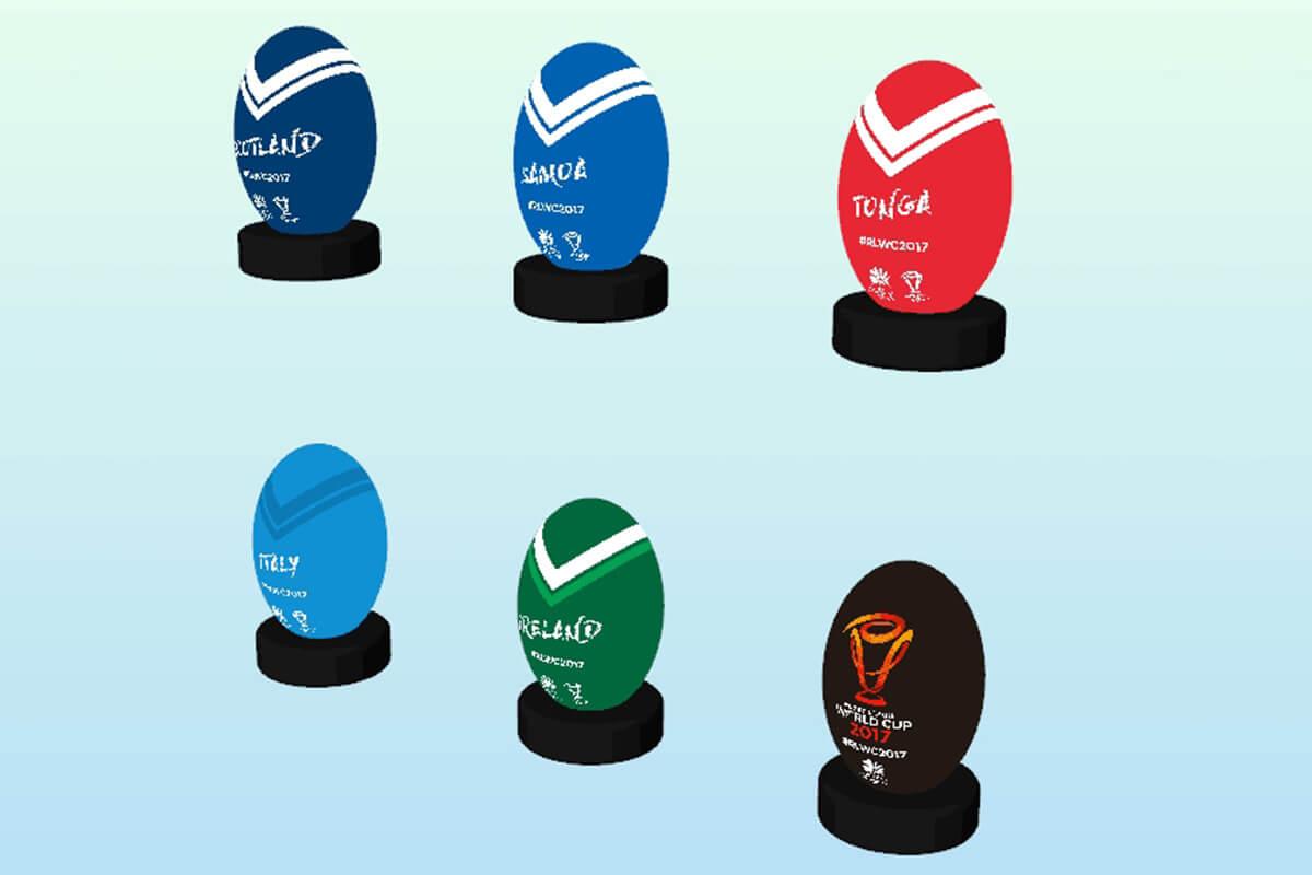Rugby Balls 3D
