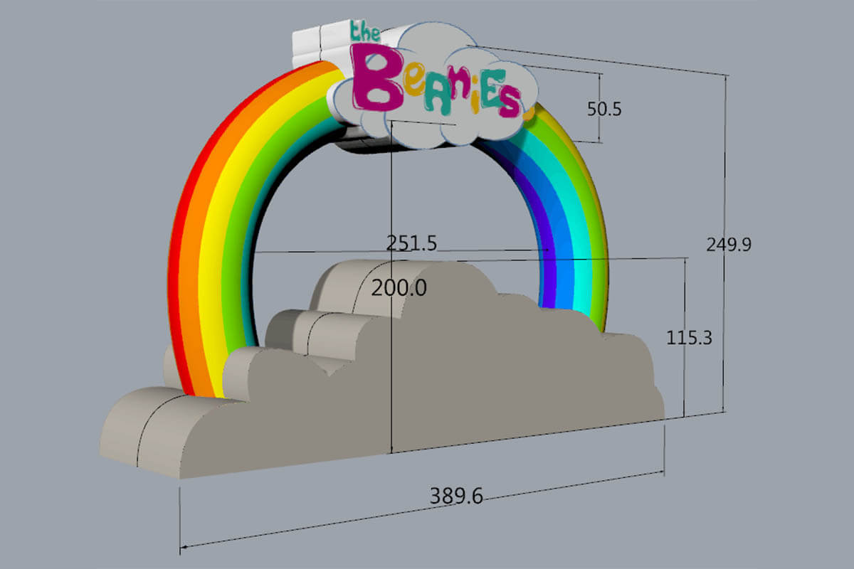 3D Design For Beanies Custom Inflatable Stage Prop