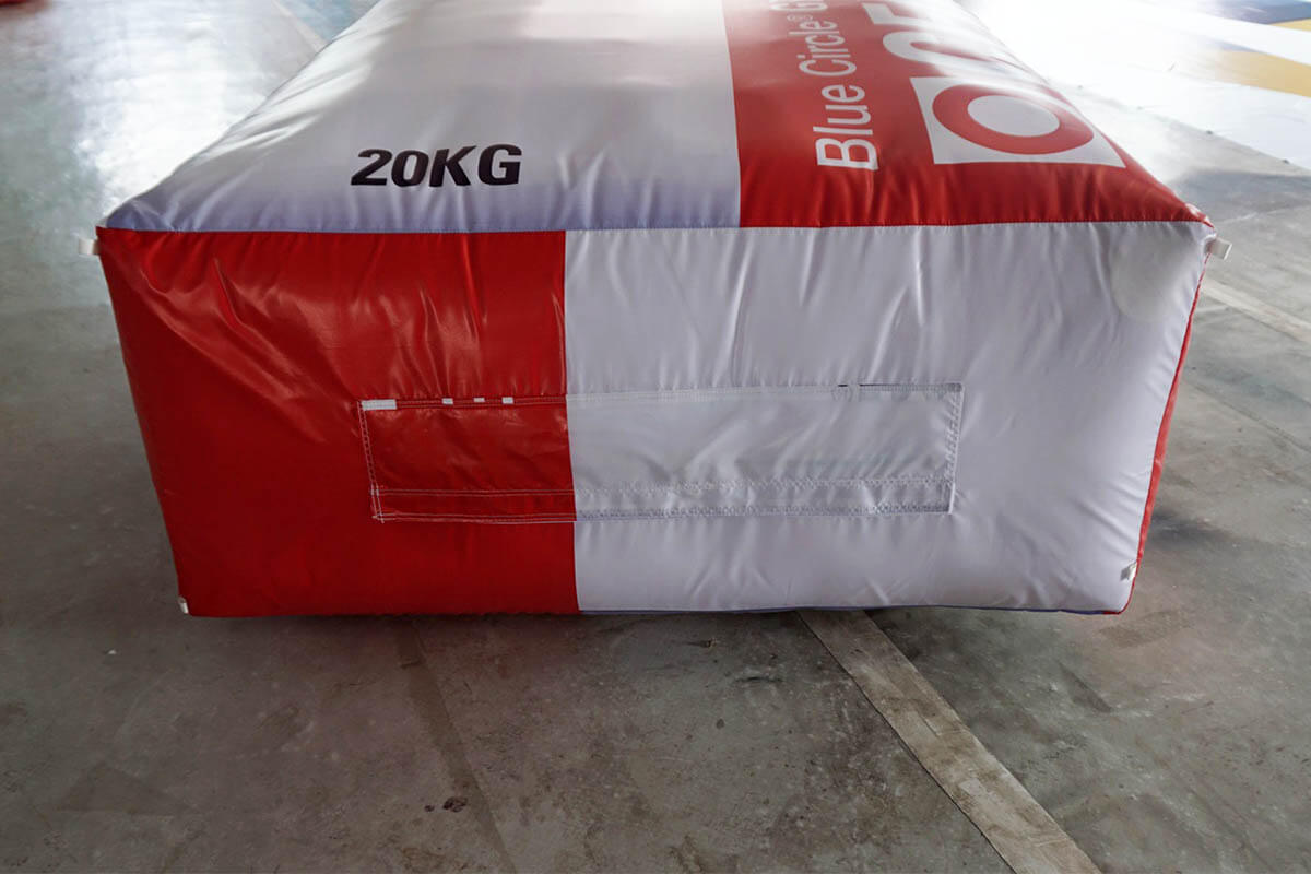 Bottom Of Inflatable Cement Bag