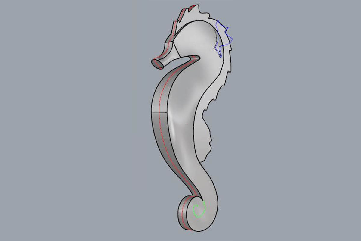Custom CAD Designed Inflatable Seahorse