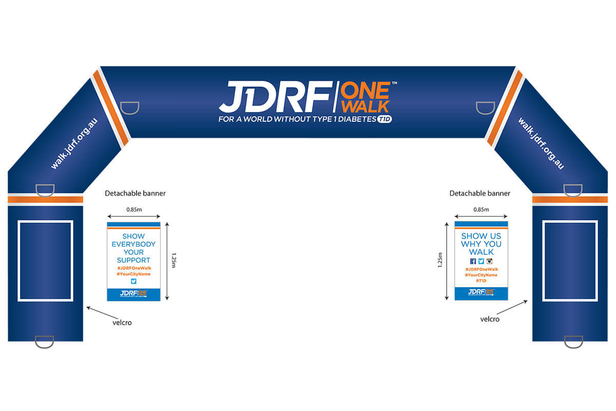 JDRF Inflatable Arch Mock Up