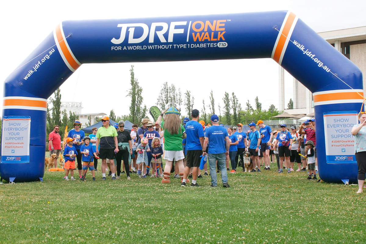 JDRF Custom Inflatable Archway