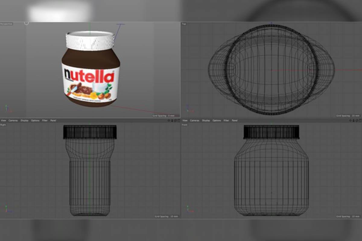 Nutella Jar 3D Mock Up