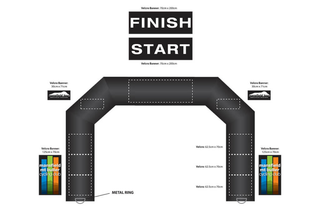 Mansfield Inflatable Archway Finish Line