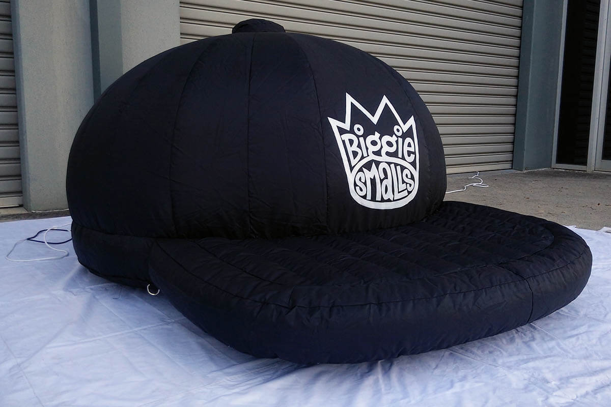 The Finished Giant Inflatable Hat Replica For Biggie Smalls