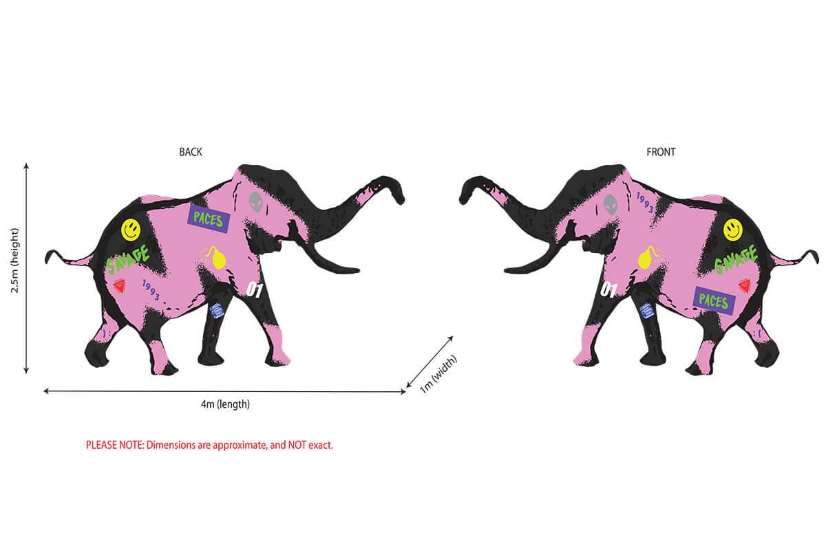 Original Artwork Inflatable Elephant