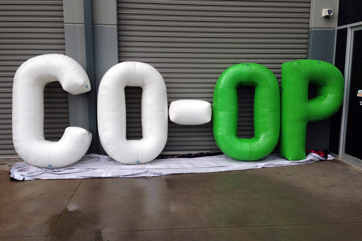 Giant Inflatable Letters Test Run