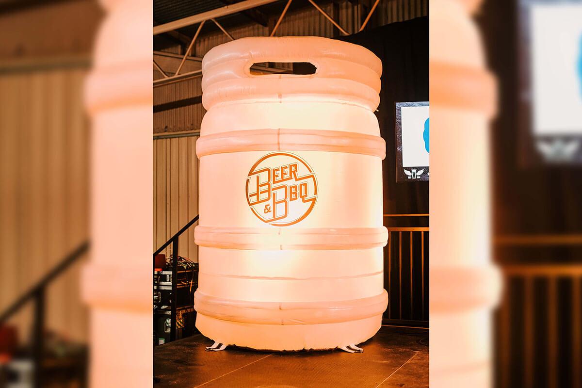 Inflatable Keg with LED Lighting