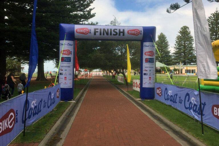Inflatable Start Line Arch At Event