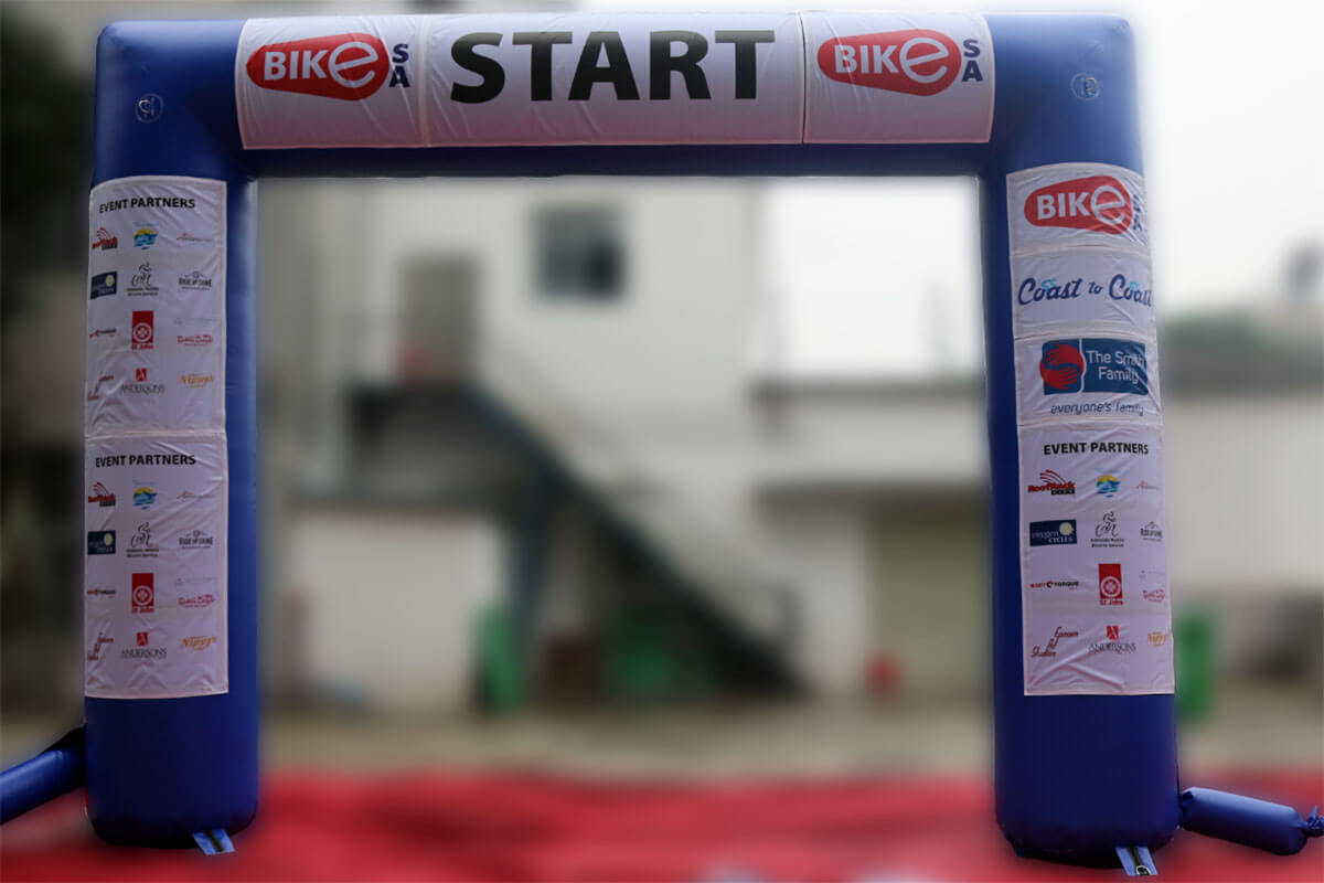 Inflatable Start Line Arch Test Run