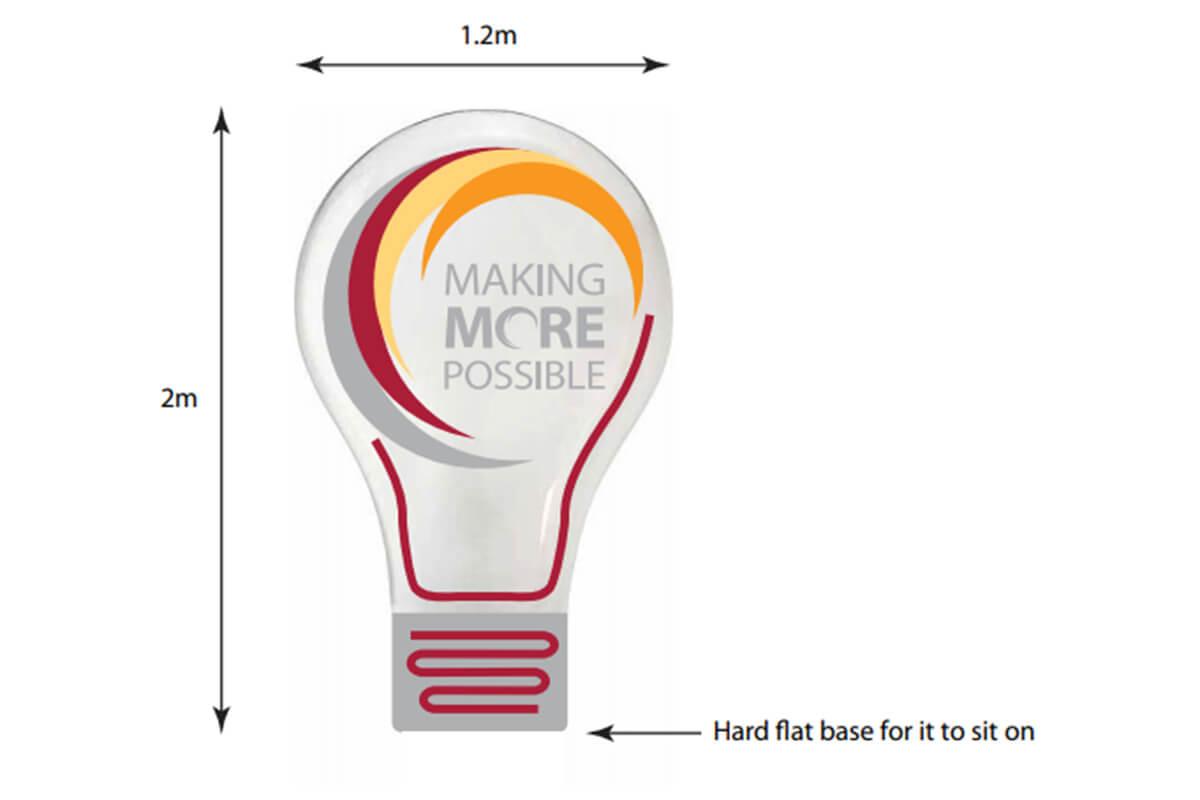 Promotional Custom Inflatable Artwork