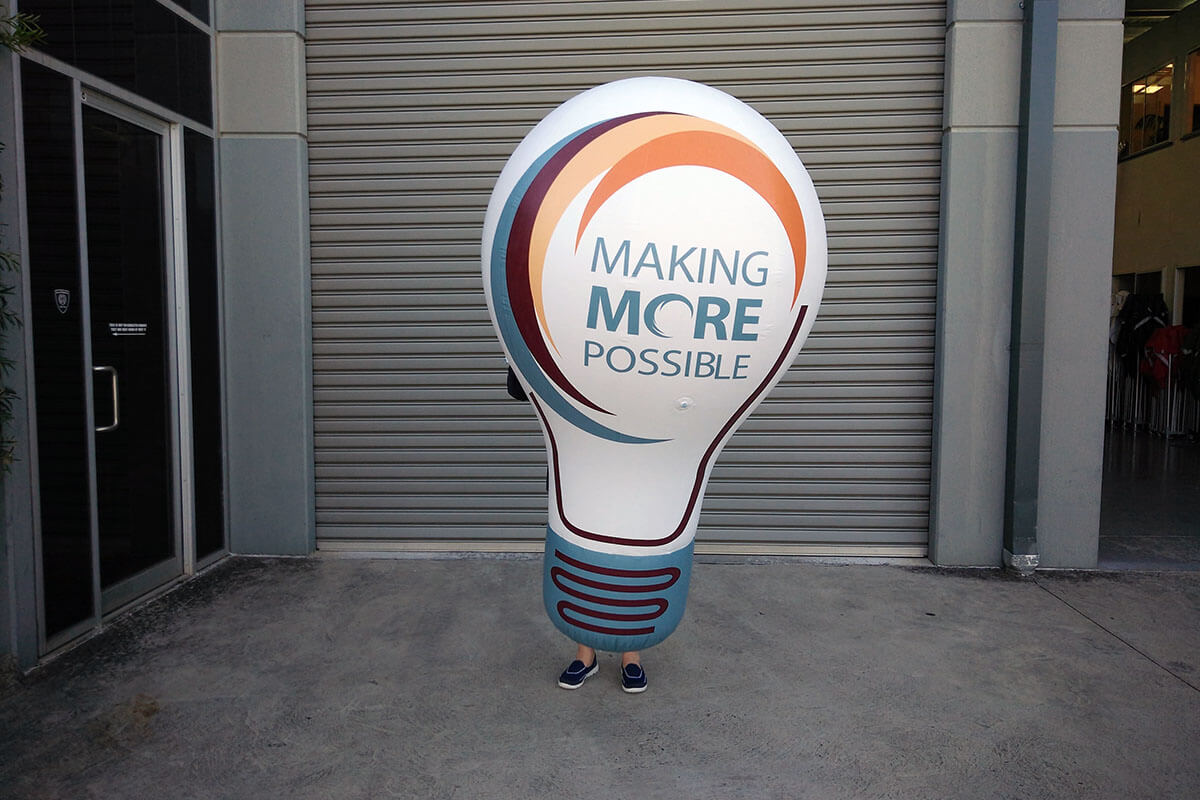 Promotional Custom Inflatable Bulb Only