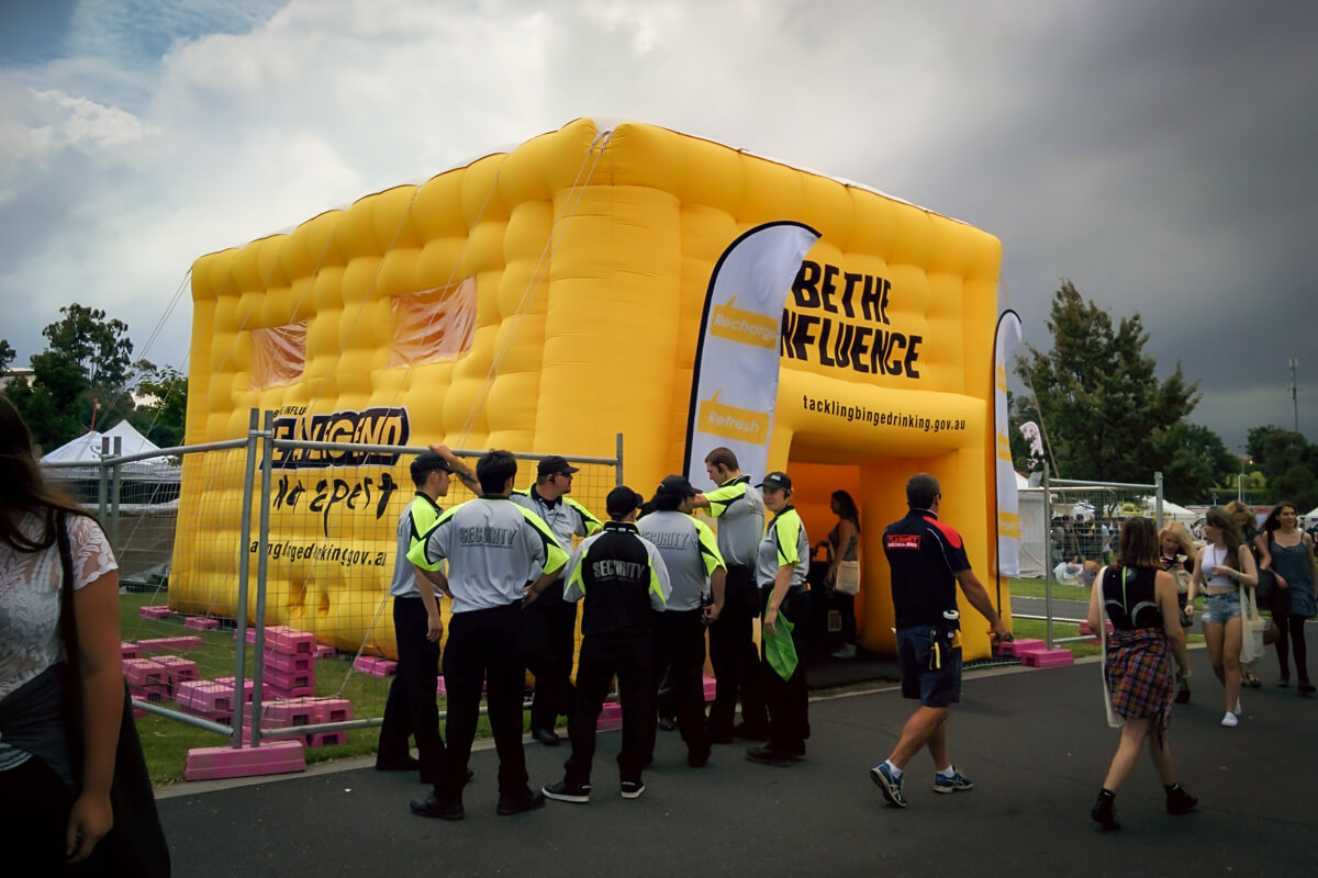 Inflatable Cube at Event