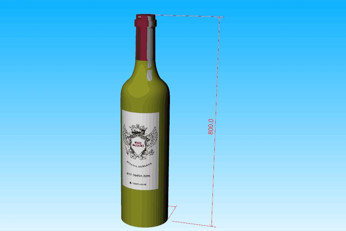 Inflatable Wine Bottle 3D Artwork