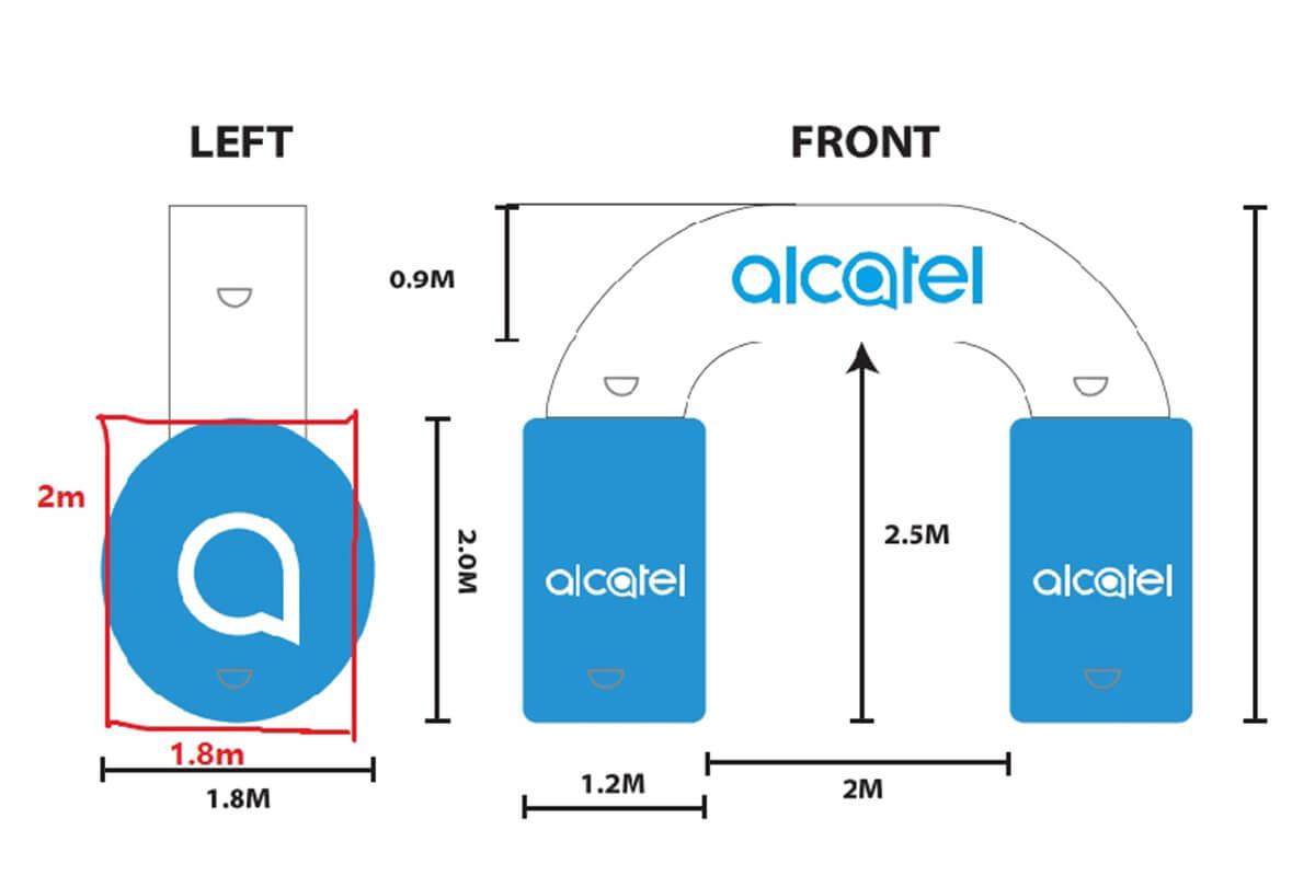 Large Inflatable Headphones 2D Design