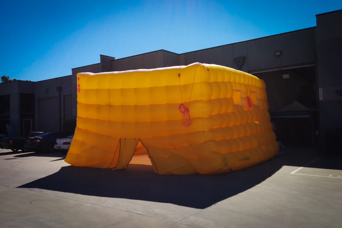 Testing the Custom Inflatable Cube
