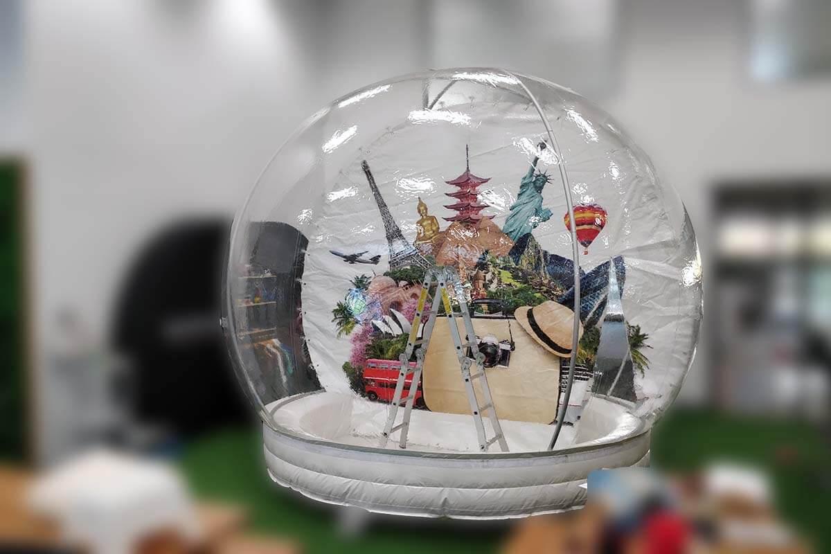 Giant Inflatable Snow Globe Test
