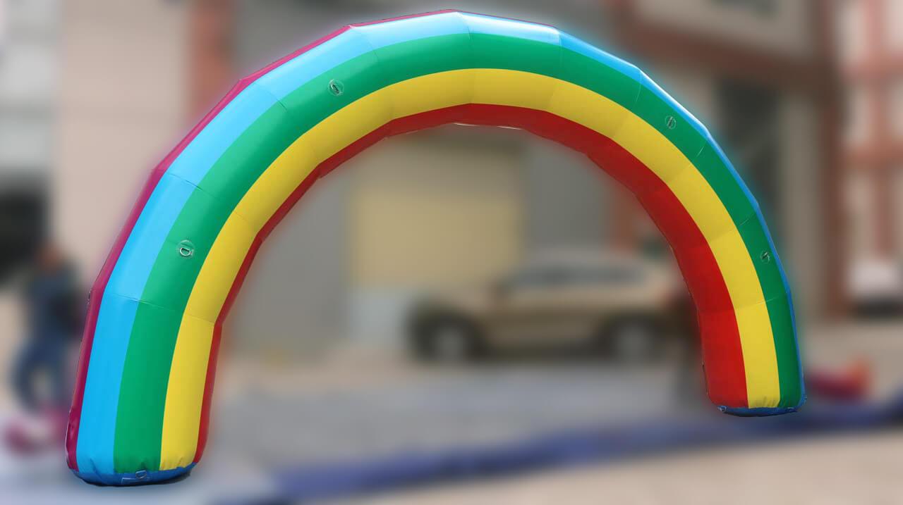 Inflatable Rainbow Arch Test